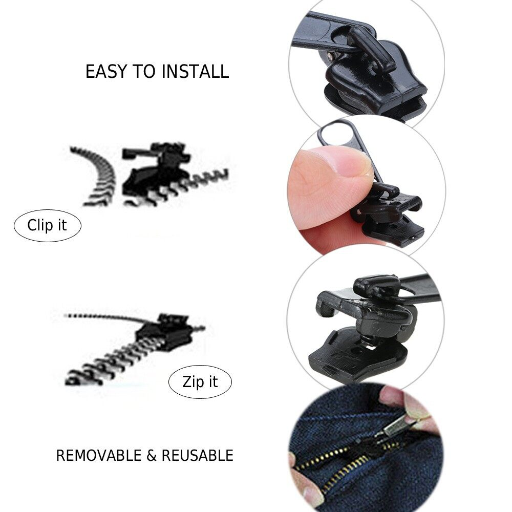 DIY Tools - 6 PIECE(s) Zipper Slider Puller Zip Instant Rescue Repair Kit Replacement - Home Improvement