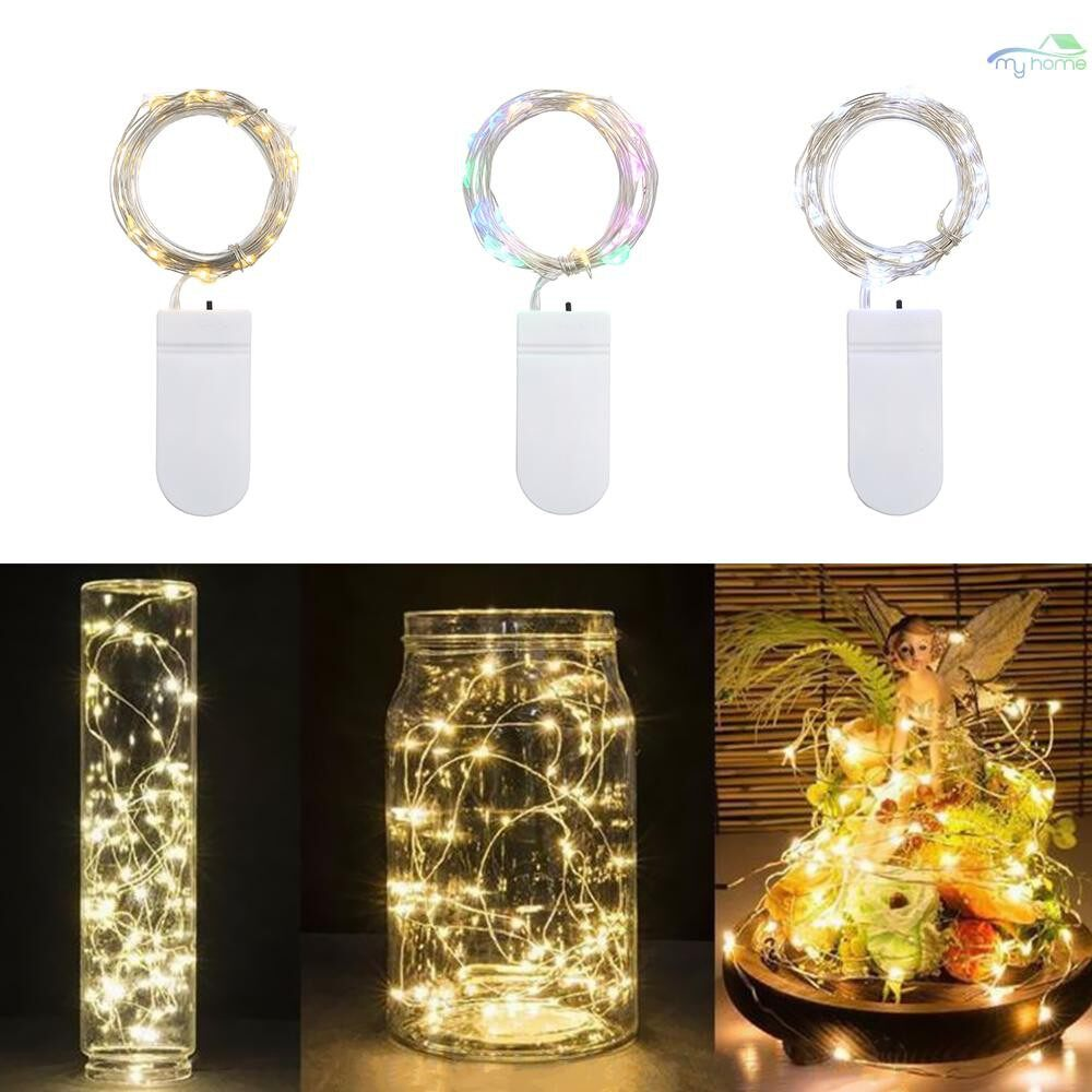 Bathroom Lighting - 2M/6.6FT 20LEDs Starry Copper Wire String Battery Operated Powered Extra Flexible Bendable - MULTICOLOR-2M / WARM WHITE-2M / WHITE-2M / MULTICOLOR-1M / WARM WHITE-1M / WHITE-1M