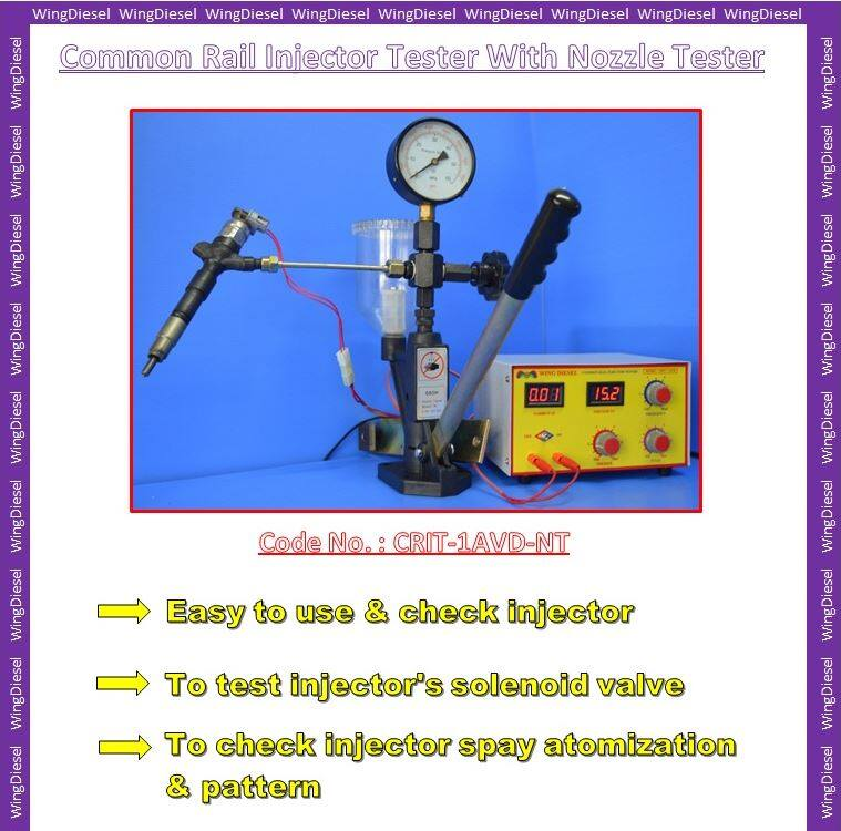 Common Rail Injector Tester with Nozzle Tester 100% New