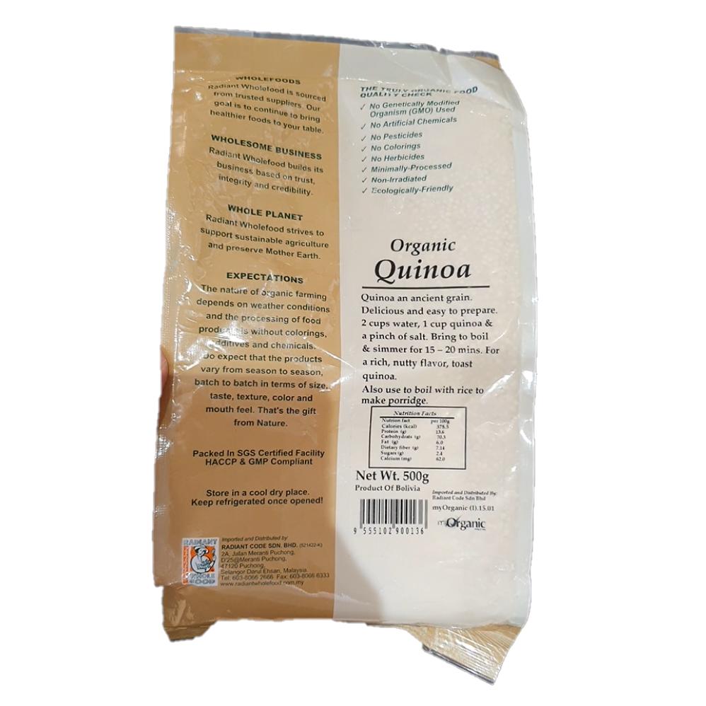 Radiant Organic Quinoa 500G
