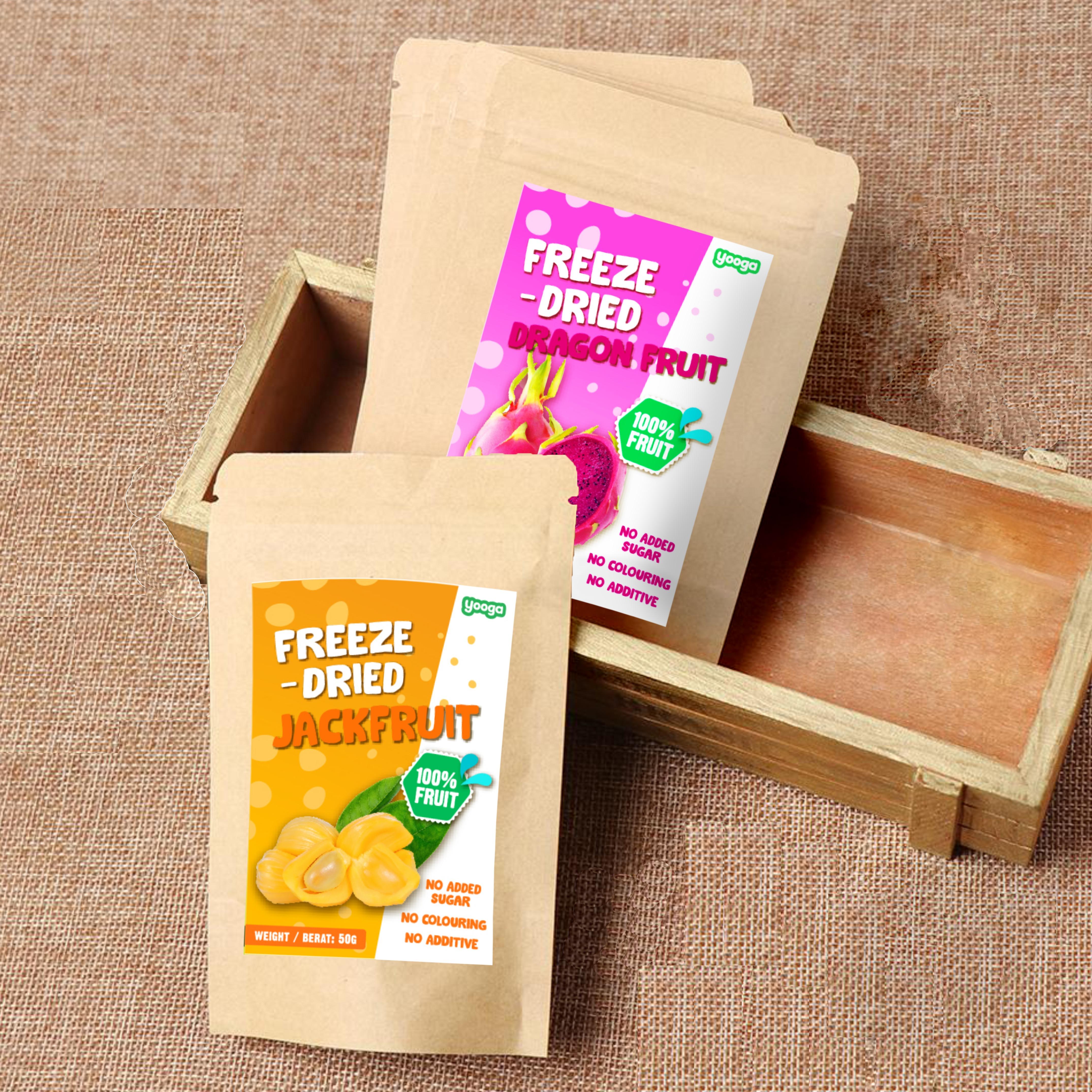 Yooga Freeze Dried Fruits (twin combo - dragon fruit + jack fruit)