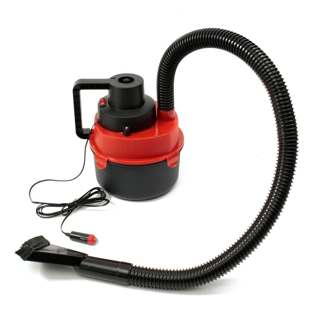 Cleaning Equipment - Red 12V PORTABLE WET DRY MINI Vacuum Cleaner Carpet Car Boat Air Inflating Pump - Car Care