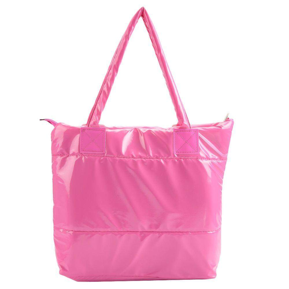 SIMPLE DESIGN SOLID COLOR TOTE BAG FOR LADIES (LIGHT PINK)