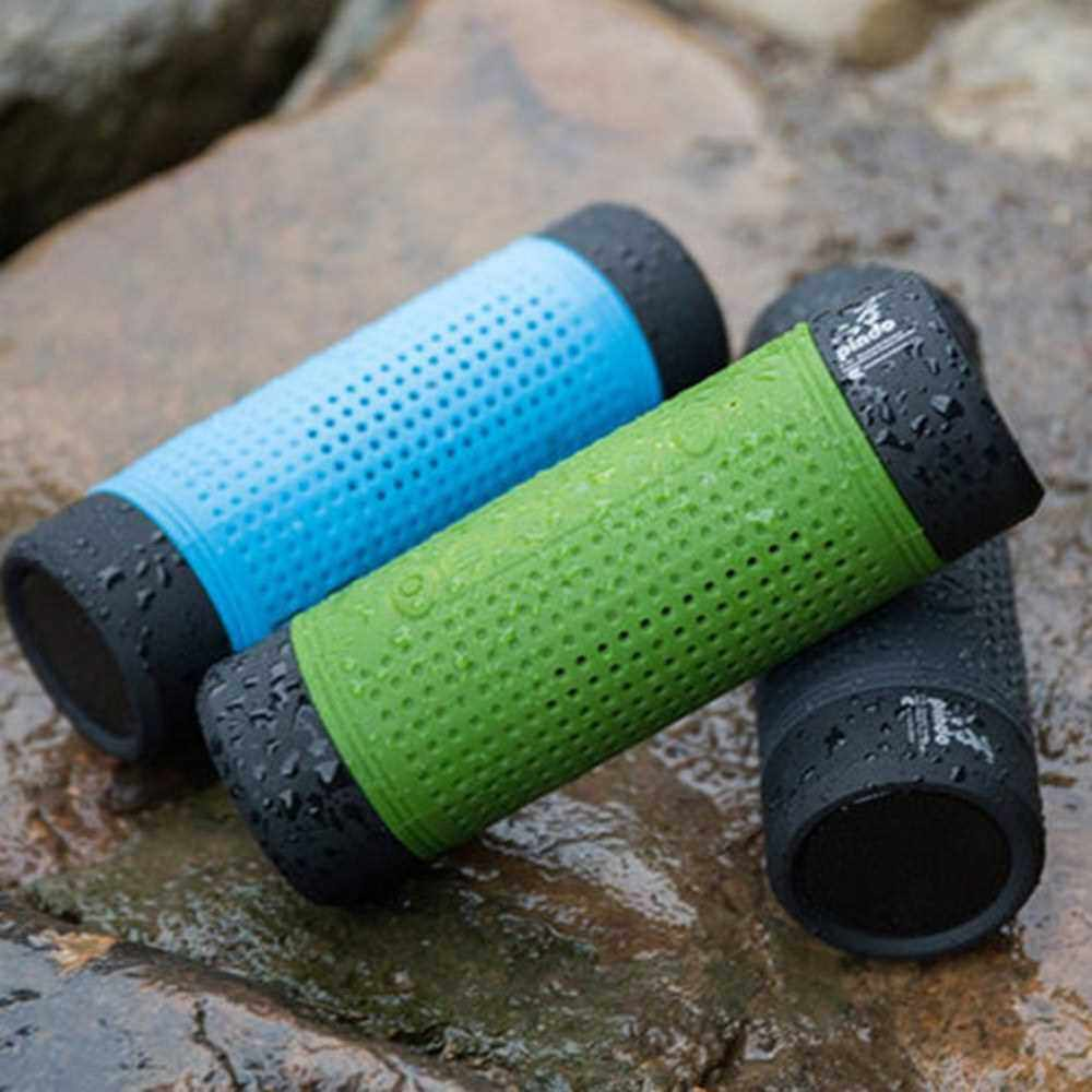 X1 Wireless Bluetooth 4.0 Speaker Bicycle Waterproof Outdoor Super Bass Audio Player 4000mAh Power Bank Portable 3D Stereo Wireless Speakers LED Lamp (Black)