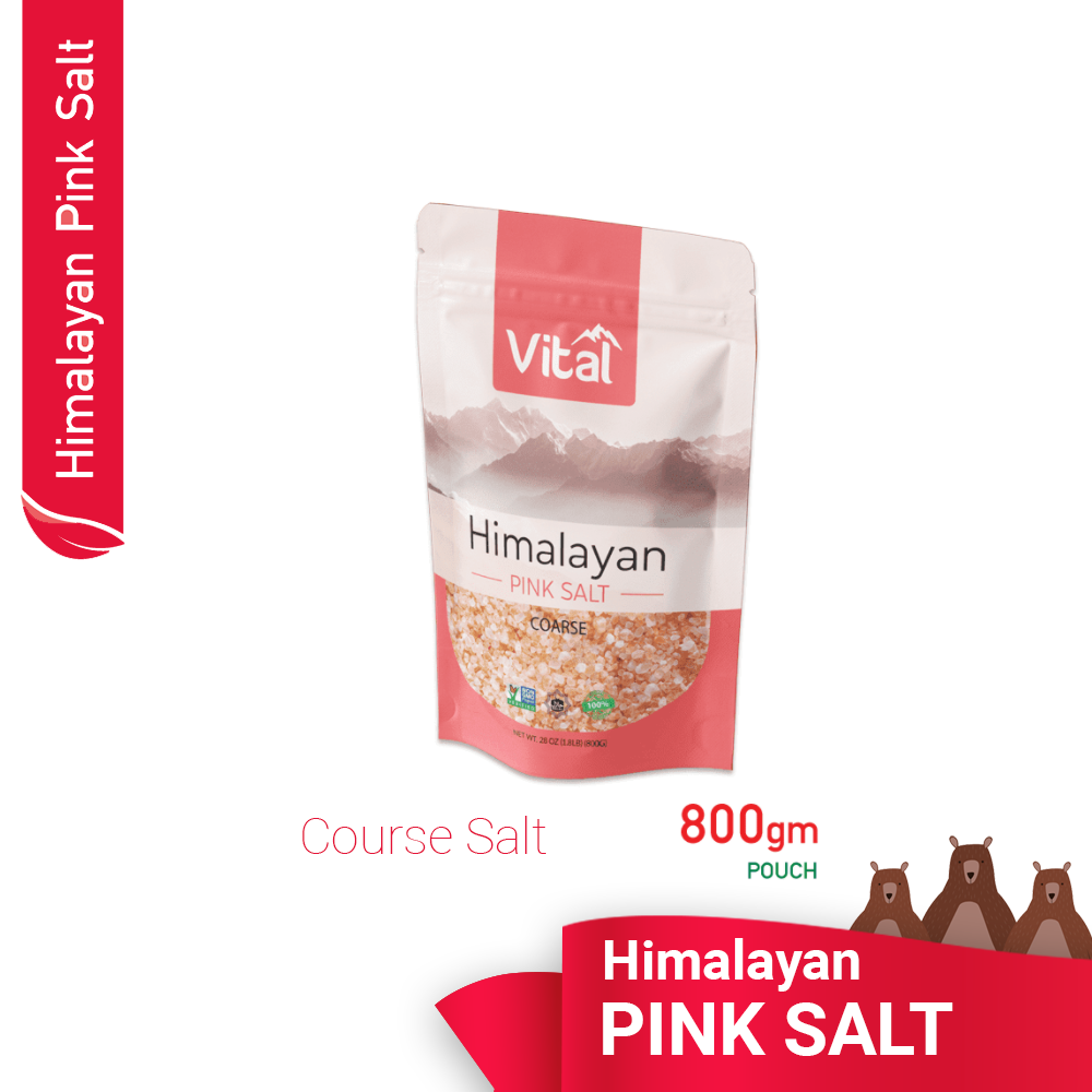 Vital Himalayan Pink  COURSE SALT / 800grams` READY STOCK  in MALAYSIA / Organic Salt