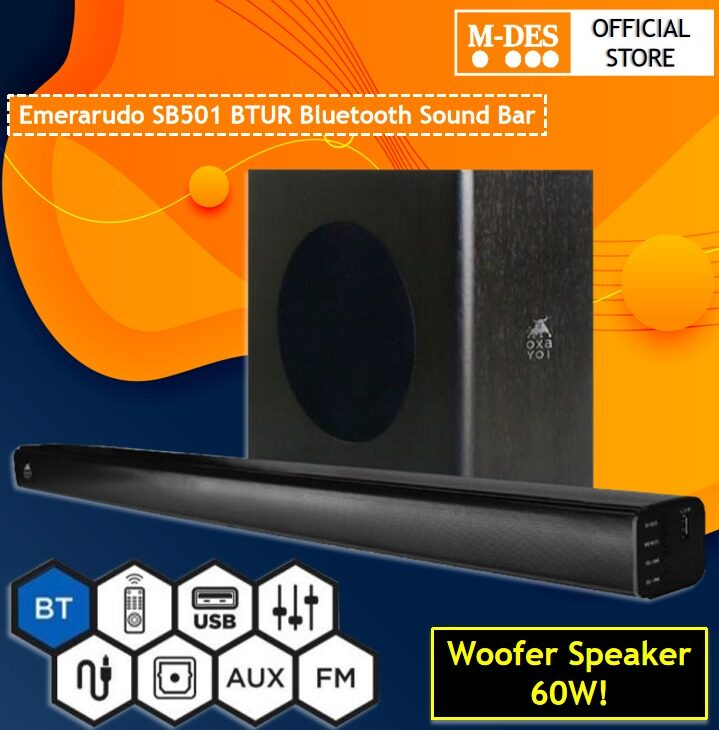 [READY STOCK] OXAYOI Emerarudo SB501 BTUR Bluetooth Speaker.Compatible with Connection Bluetooth / USB / SD Card