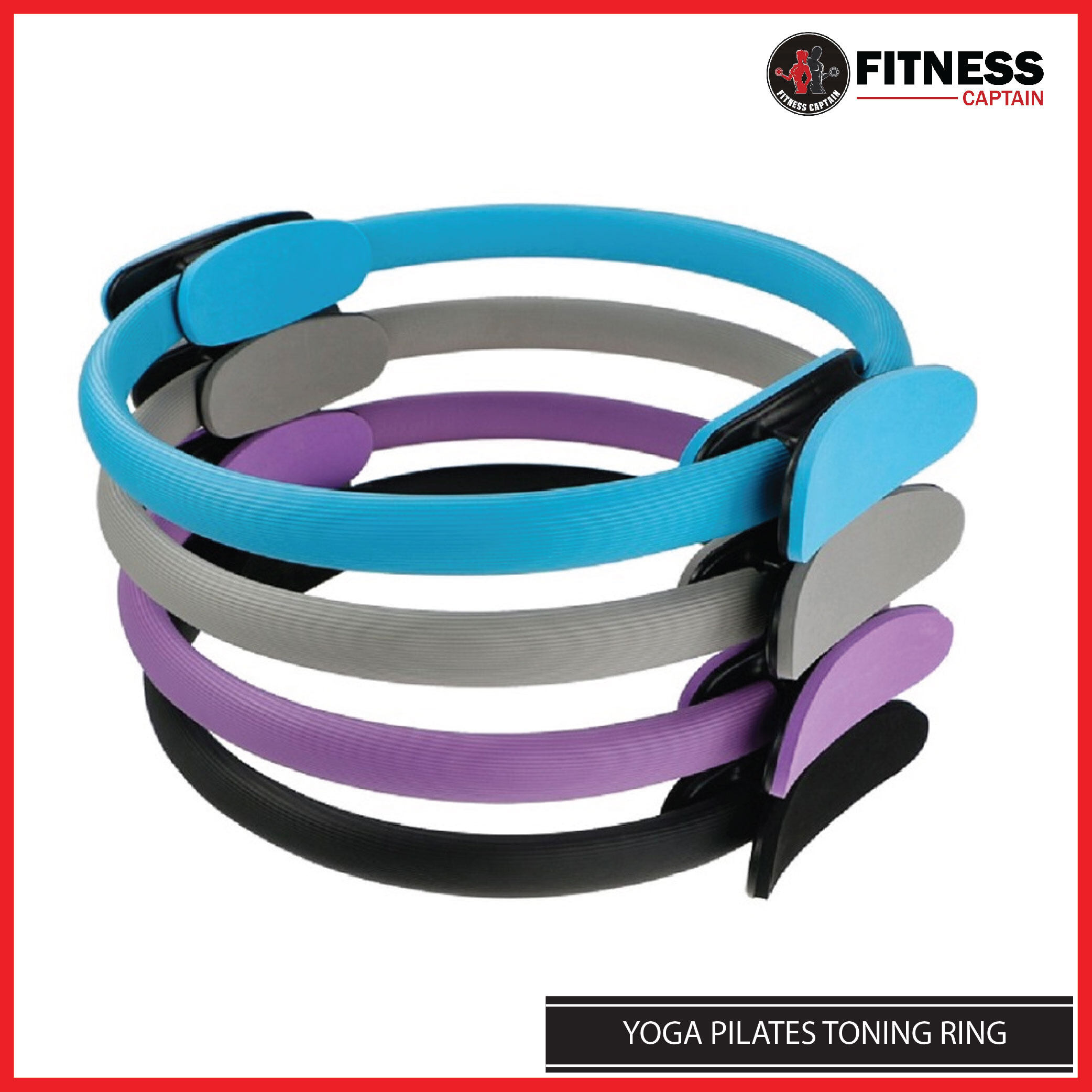 Fitness Captain Premium Yoga Pilates Toning Ring for Strength and Exercise (COLOR RANDOM)