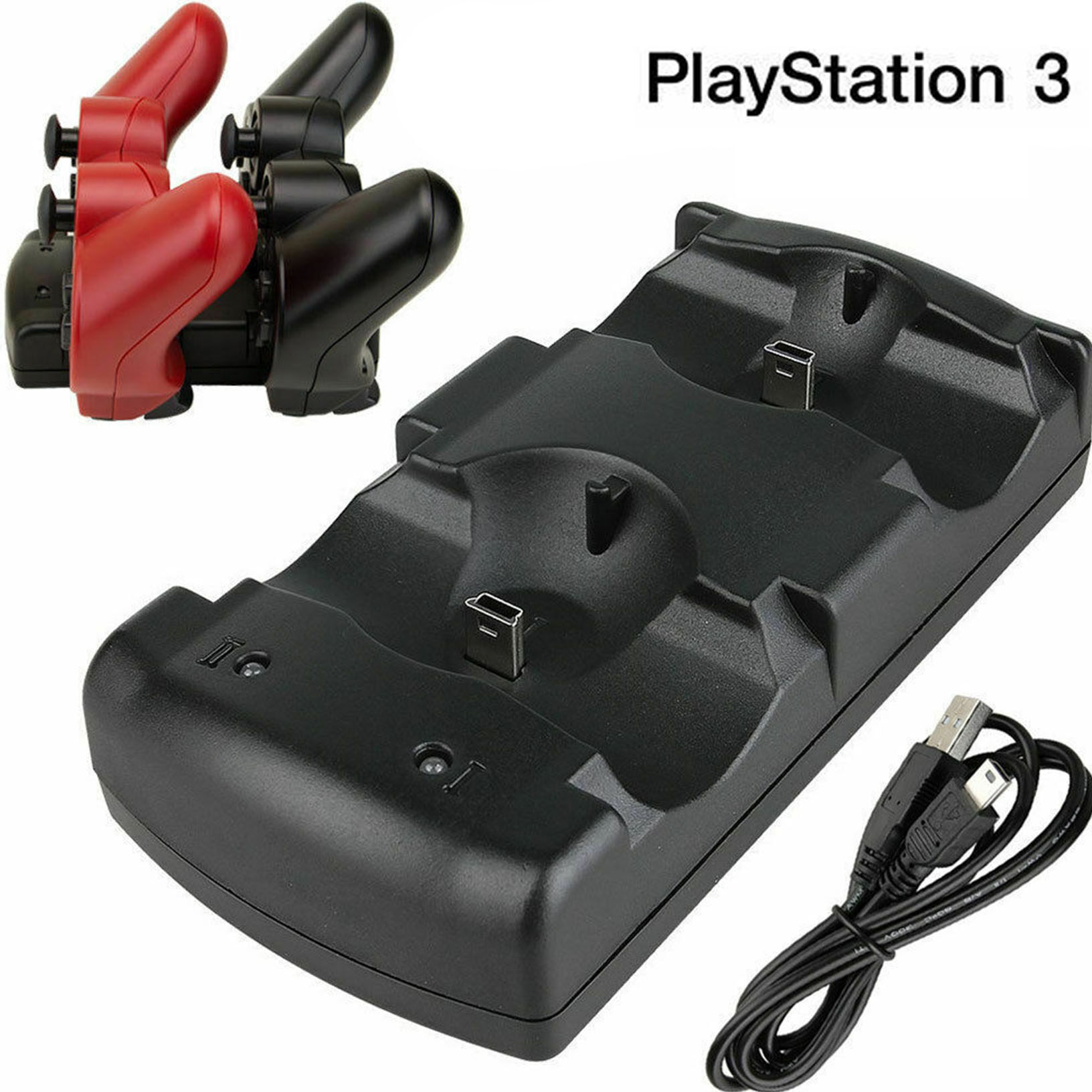 Sony PS 3 Dobe DualShock Controller  USB Dual Charging Dock [READY STOCK]