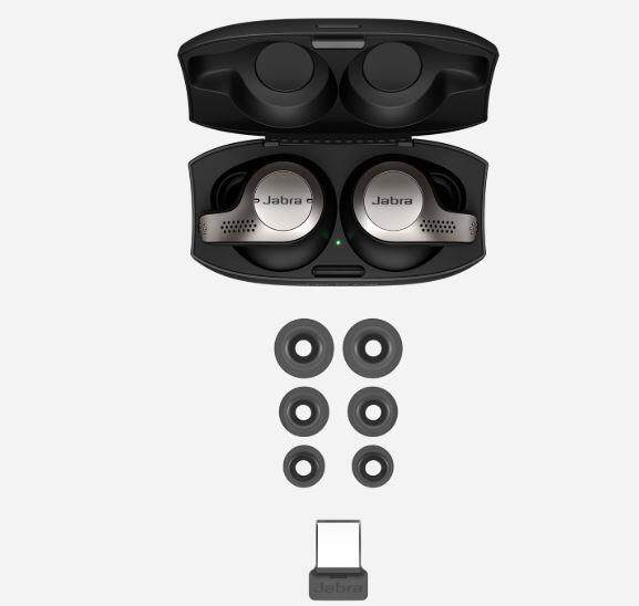 Jabra Evolve 65t Titanium Black + Link 370, MS Microsoft Skype for Business