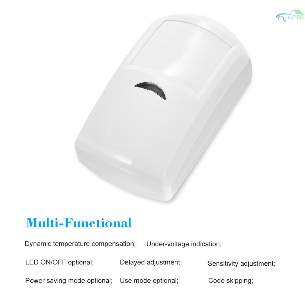 Sensors & Alarms - 433MHz WIRELESS PIR Motion Sensor Passive Infrared Detector For Home Burglar Security Alarm System - WHITE