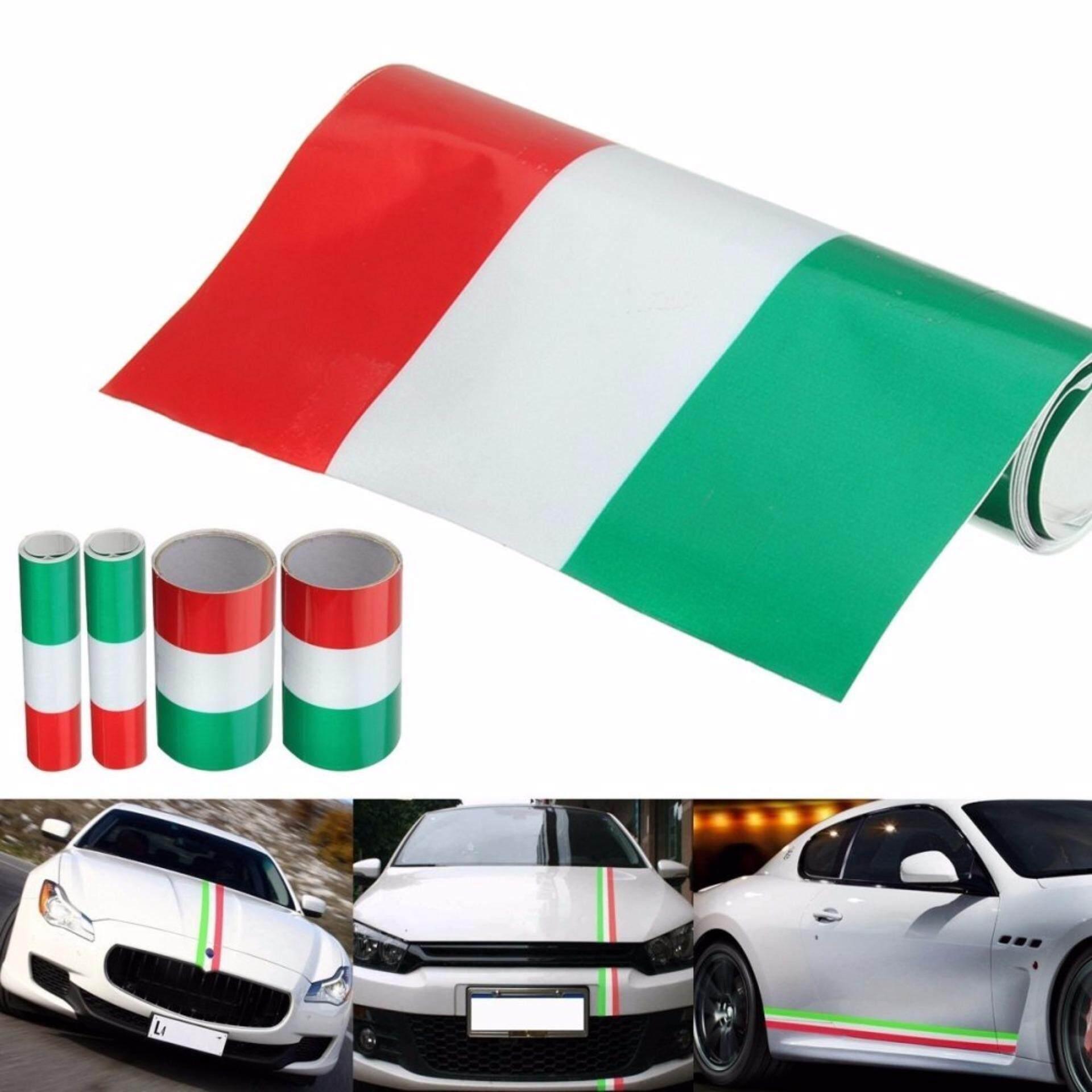 1M Italy Flag Stripe Car Hood Vinyl Sticker Decal
