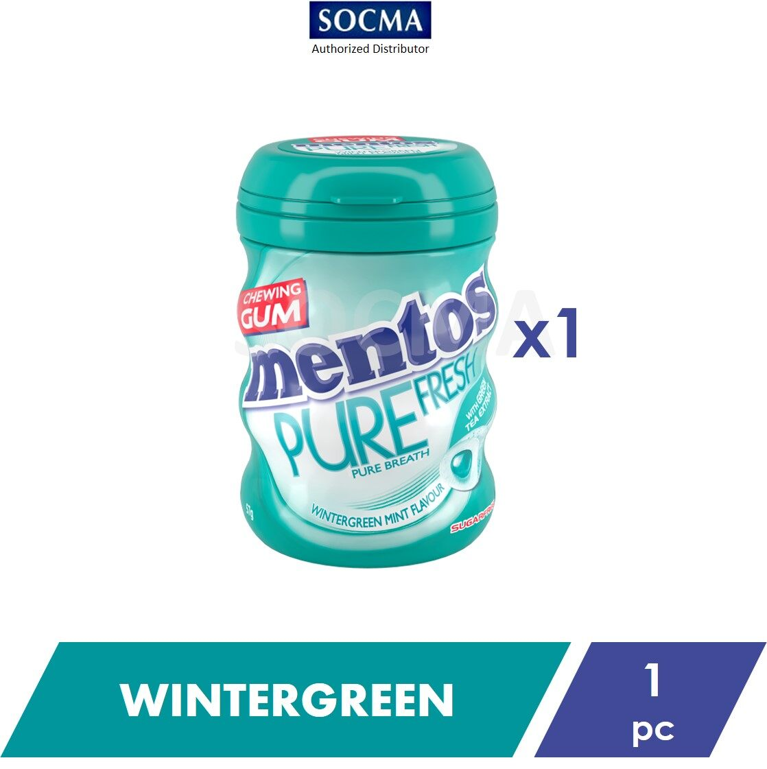 Mentos Pure Fresh French Wintergreen 57G [1]