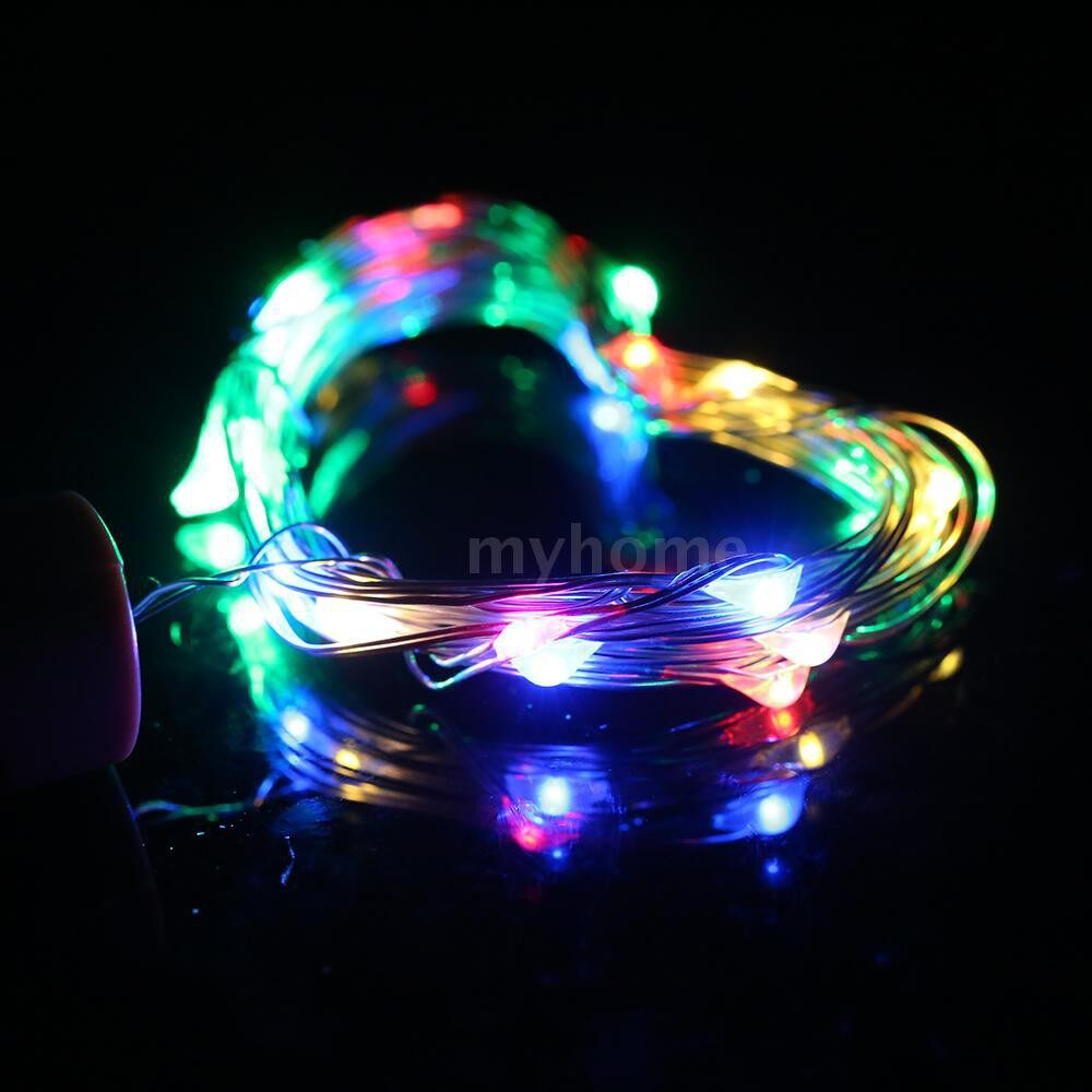 Lighting - 4.5V 0.9W 1.5Meters 15 LED Copper Wire Fairy String Light 12 Pack Multi-color Twistable Bendable - MULTICOLOR-12 PACK / WARM WHITE-12 PACK / WHITE-12 PACK / MULTICOLOR-10 PACK / WARM WHITE-10 PACK / WHITE-10 PACK / MULTICOLOR-6 PACK / WARM
