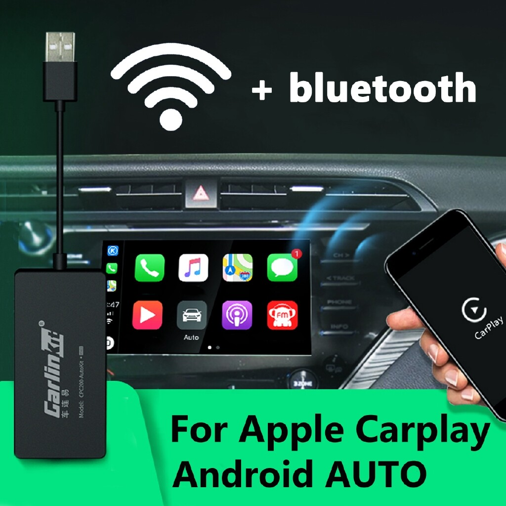 Car Replacement Parts - WIRELESS BLUETOOTH Auto Link USB Dongle For CarPlay Apple IOS Android Car Player baokuan - Automotive