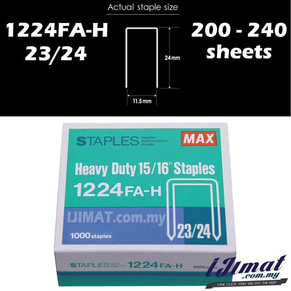 MAX Staples Bullet Stapler Bullet 15/16 1224FA-H MAX Heavy Duty Staples 23/24 For HD-12N/24 & Deli 0385 Heavy Duty Stapler