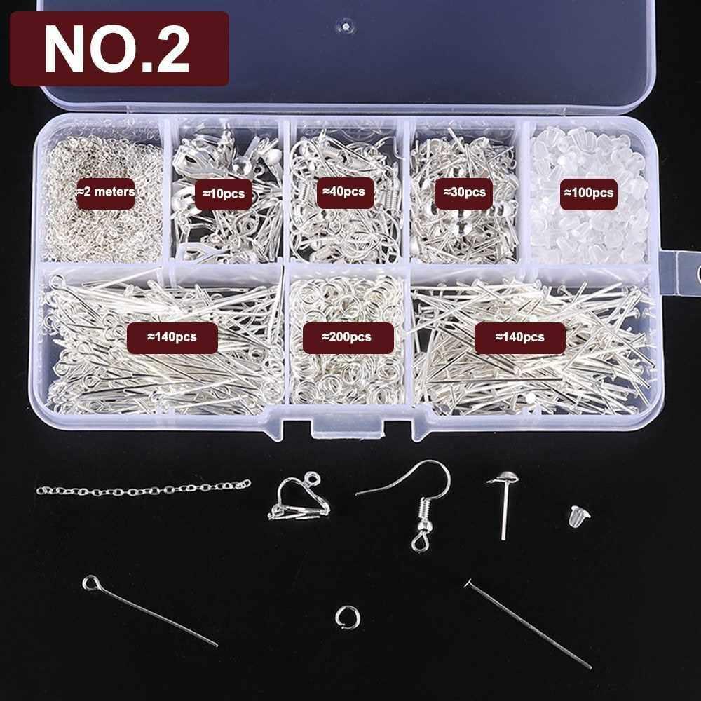 Best Selling Earrings Eardrop Jewelry Making Kit With Plier Jump Rings Findings DIY Making Tools Set NO.2 (Alh19055182)