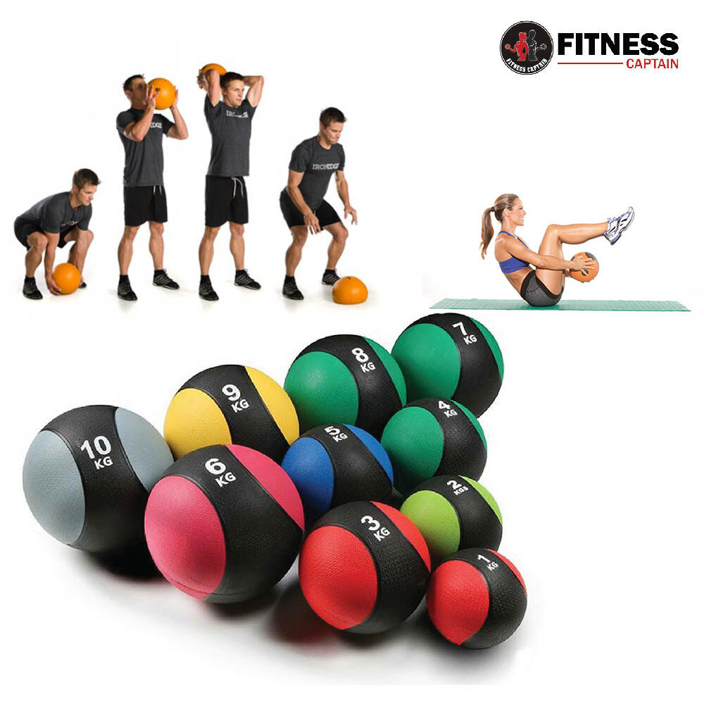 Fitness Gym Medicine Ball Rubber Muscle Balls Arm Exercise 8KG