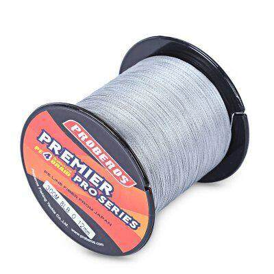 PROBEROS 300M Durable PE 4 Strands Braided Fishing Line Angling Accessories (GRAY)