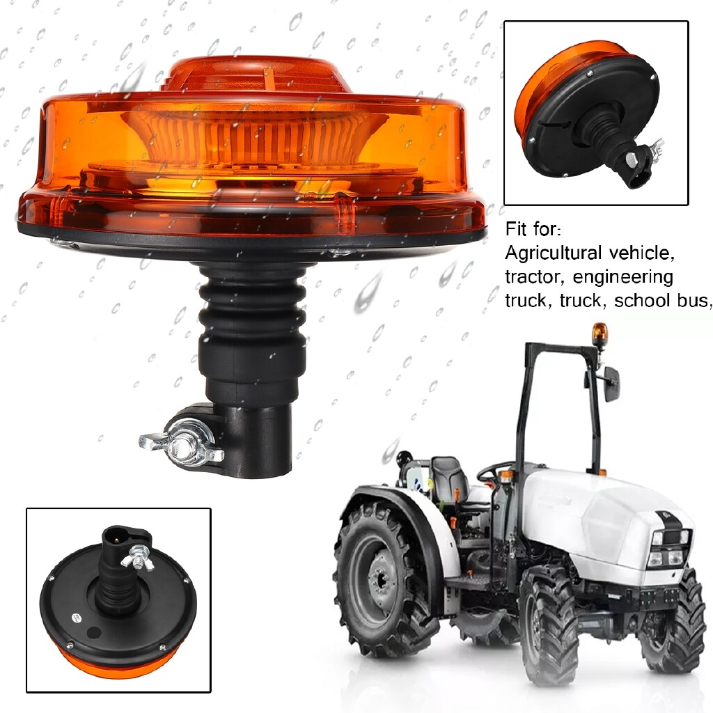 Car Lights - 12V 24V 24W LED Warning Beacon Strobe Light Car Forklift Truck Tractor Din Pole - Replacement Parts