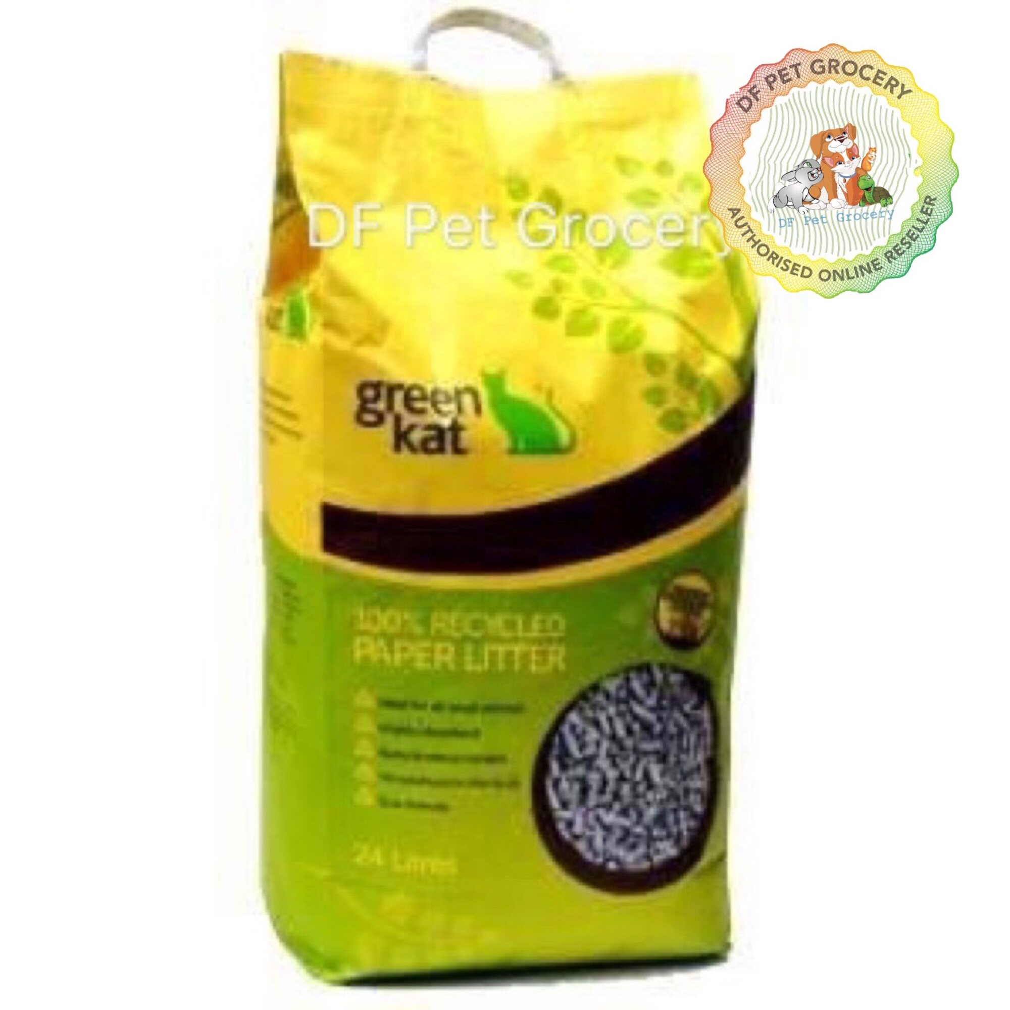 GREEN KAT 100% RECYCLED CAT LITTER - 24 Liters