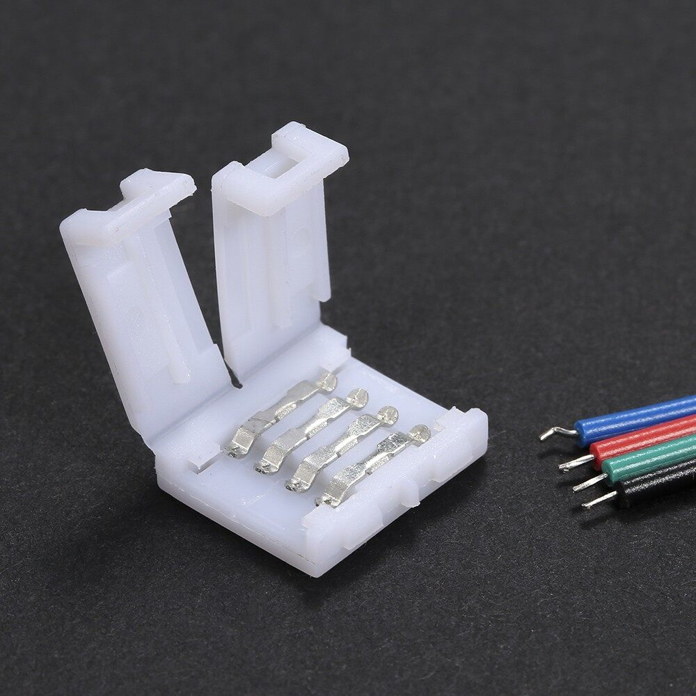 Lighting - 4 Pins RGB LED Strip Connector Quick Splitter 20 Pack White - 20 PIECE(s) / 10 PIECE(s)