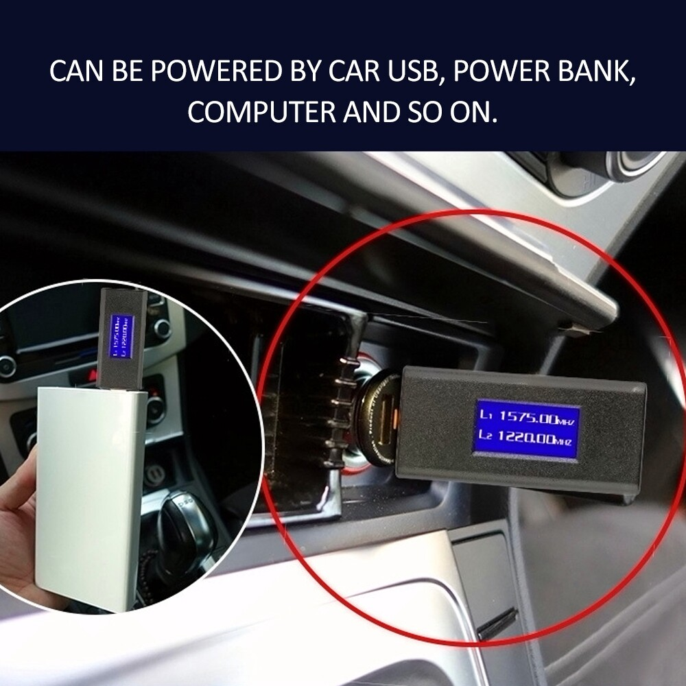 Vehicle GPS - U Disk Type GPS L1 L2 Signal Jammer USB Interface Car Shielding Device with LED - Car Electronics