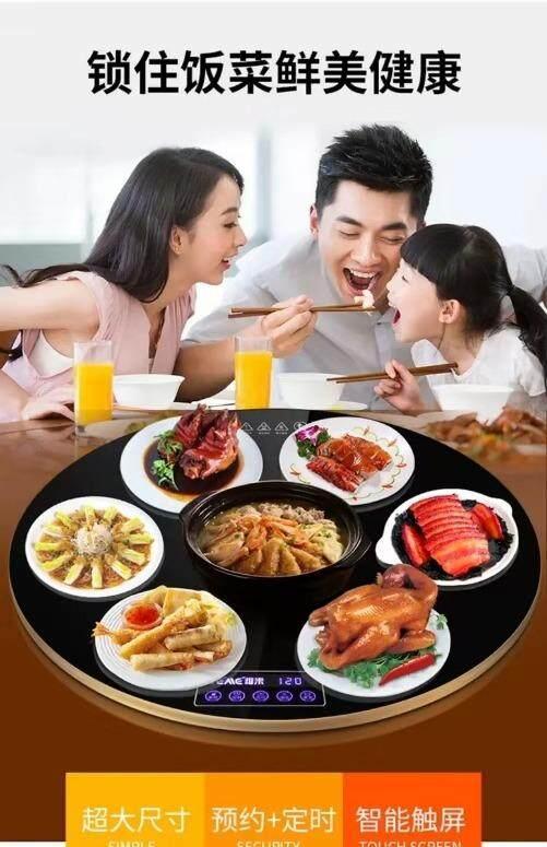 Multifunction Food Insulation Board Food Heater Dish Warm Machine Food Table