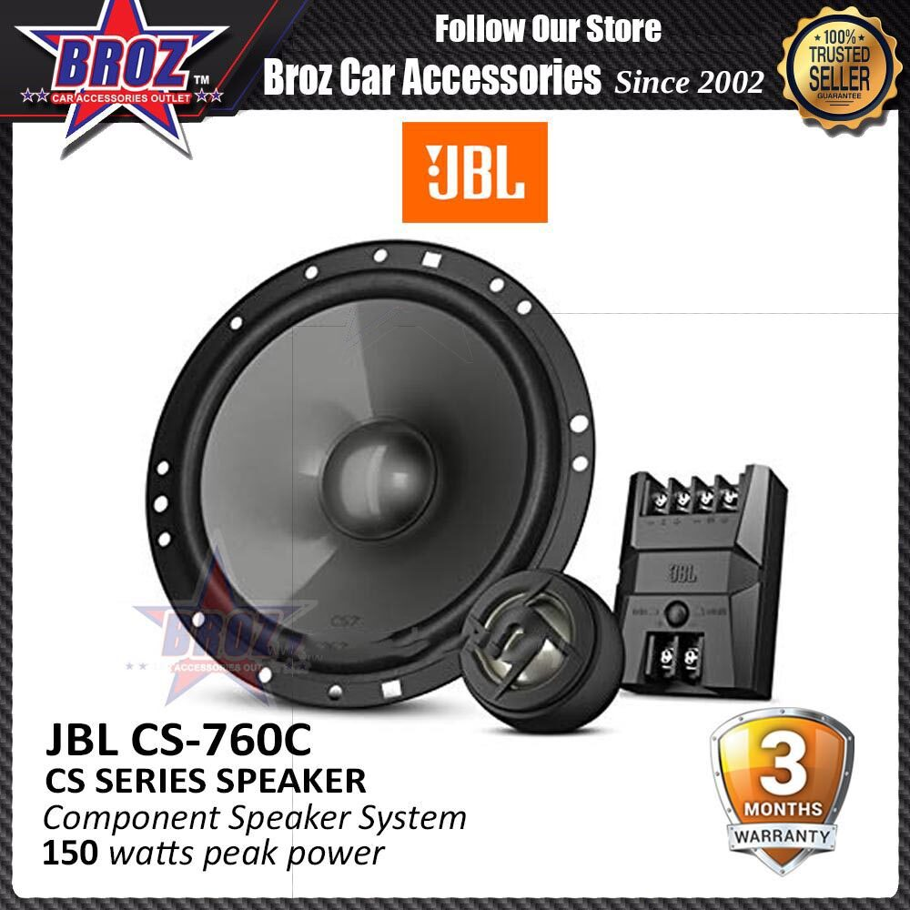 Broz JBL CS760C CS Series Speaker 6-1/2 inch 2 Way Component Car Audio Speaker