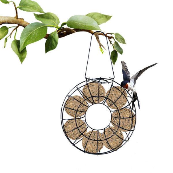 [Lightnice] Phổ Dụng Cụ Nạp Thức Ăn Cho Chim Lưới Ăn Dây Sắt Vòng Tròn Sóc Chống Treo Ngoài Trời Snack Dispenser Vườn Pet Nguồn Cung Cấp Chim