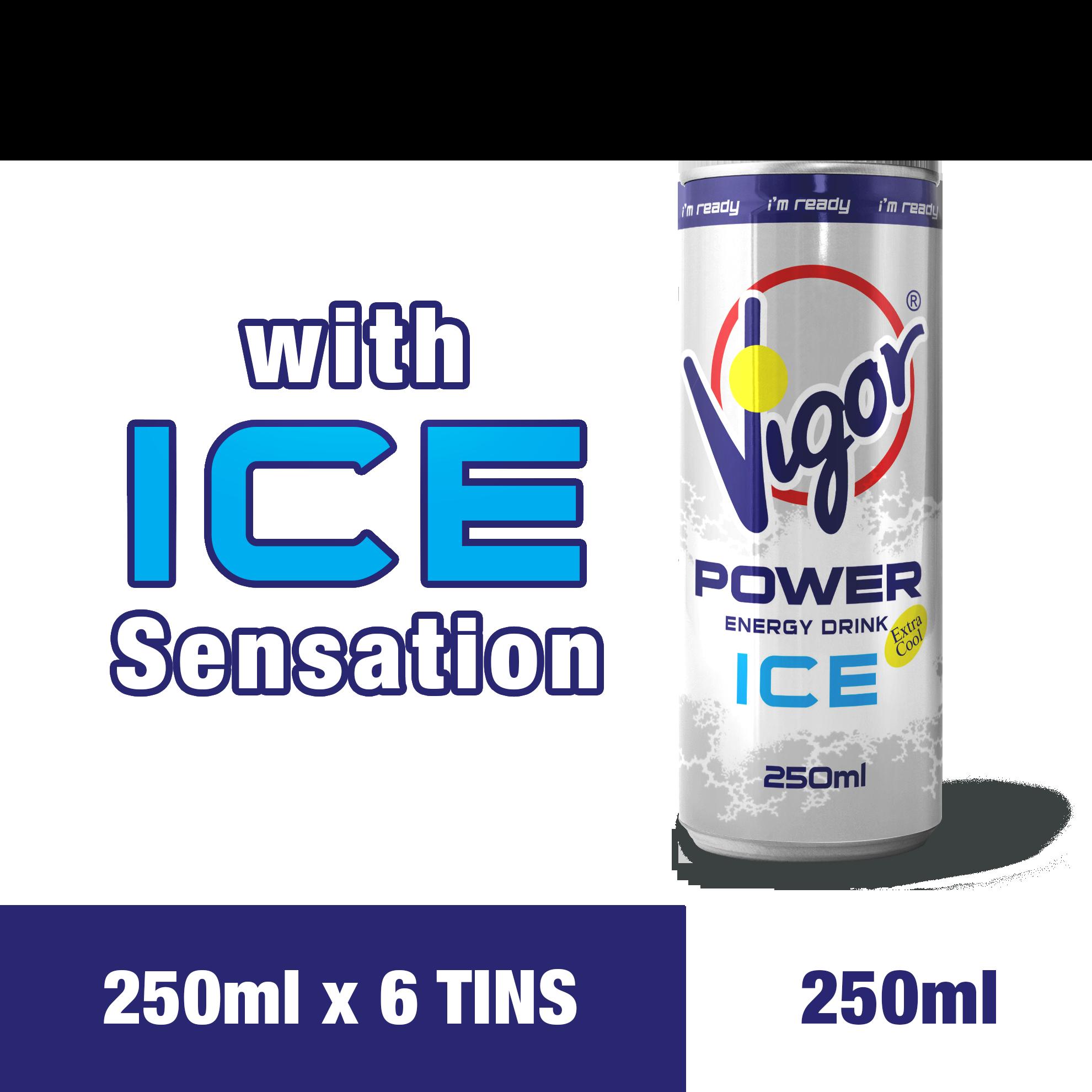 VIGOR Power Energy Drink (Iced) (250ml x 6tins)