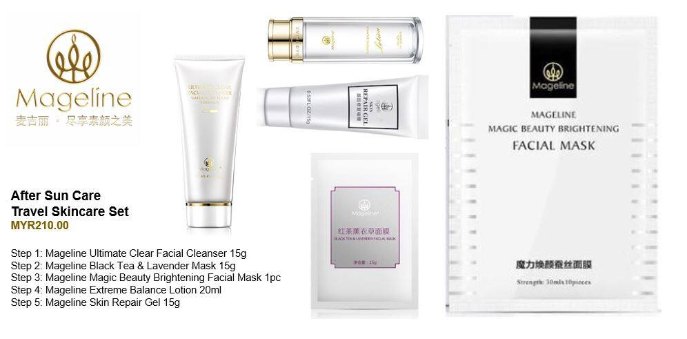 Mageline After Sun Care Skincare Travel Set