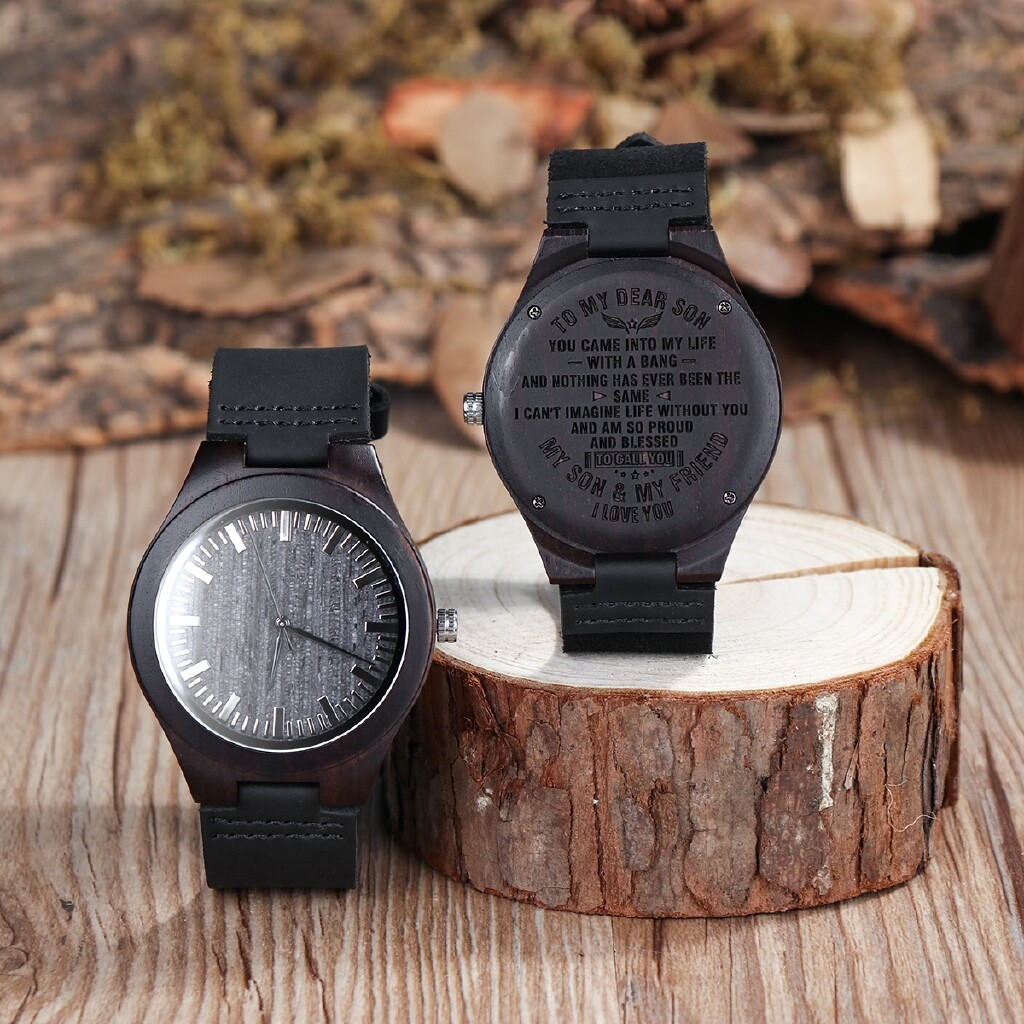 Smart Watch - BOBO BIRD D26 Wooden Watch Luxury Men Wristwatch As Best Unique Special Gift - TO MY HUSBAND / TO MY SON / TO MY MAN