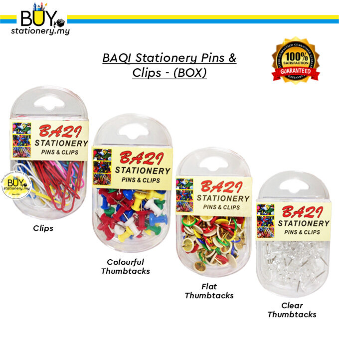 Baqi Stationery Pins & Clips – (BOX)