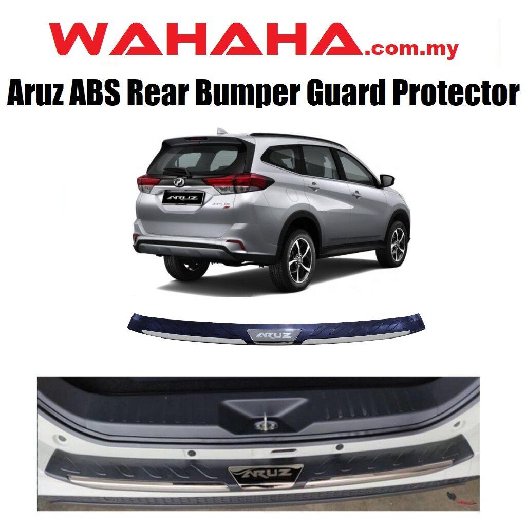 Perodua ARUZ Car Rear Bumper Guards Step Protector Chrome Stainless Steel ABS