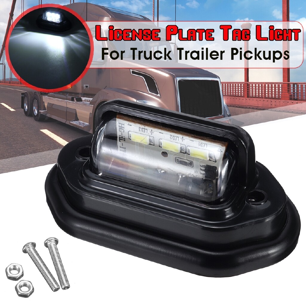 Car Lights - White 6-SMD LED License Plate Tag Light Lamp RV Trailer Trucks Pickups 12-24V DC - Replacement Parts