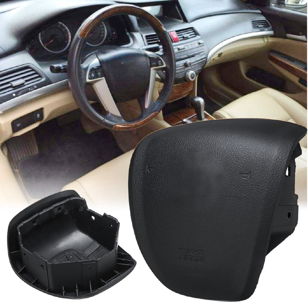 Car Lights - Driver STEERING WHEEL Airbag SRS Air Bag Safe Black Cover Car Accessories - Replacement Parts