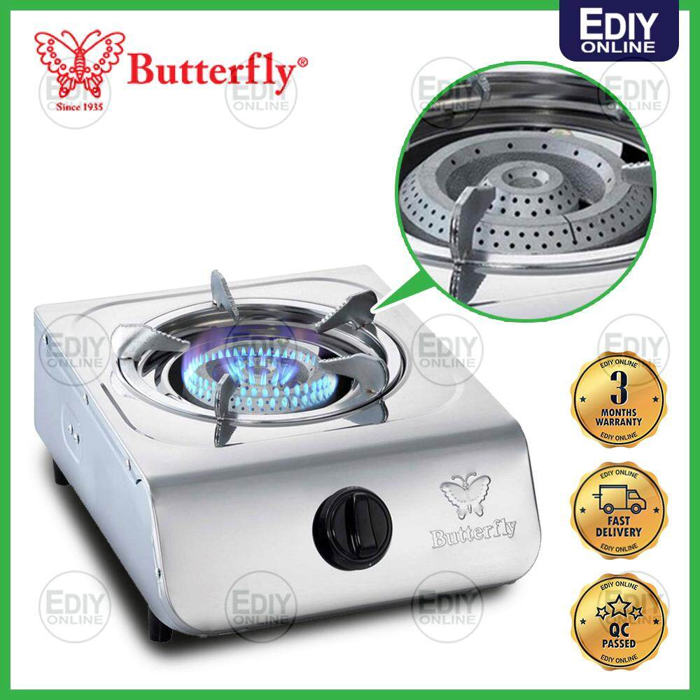 BUTTERFLY SINGLE GAS STOVE  COOEKR 368B/305 BGC-368/305 STAINLESS STEEL Dapur Gas _1701007