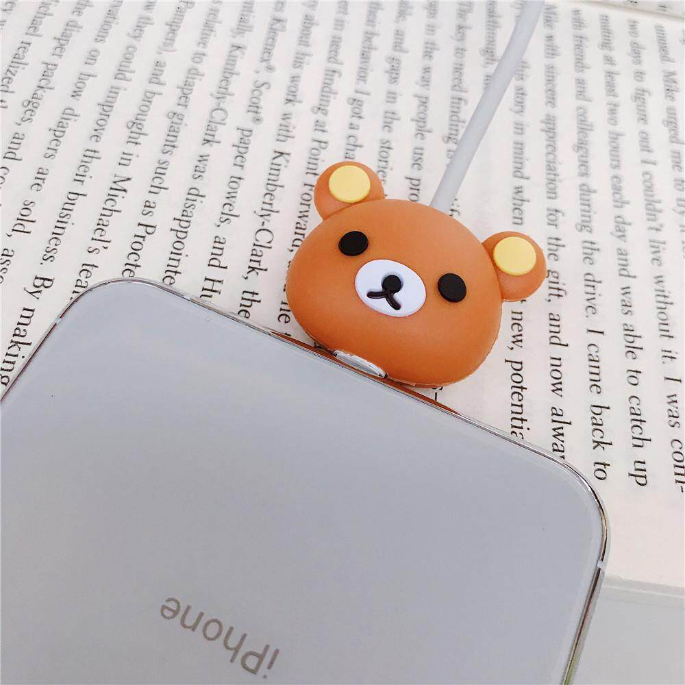 Cute Brown Bear Cartoon Cable Bite Data Cable Protector