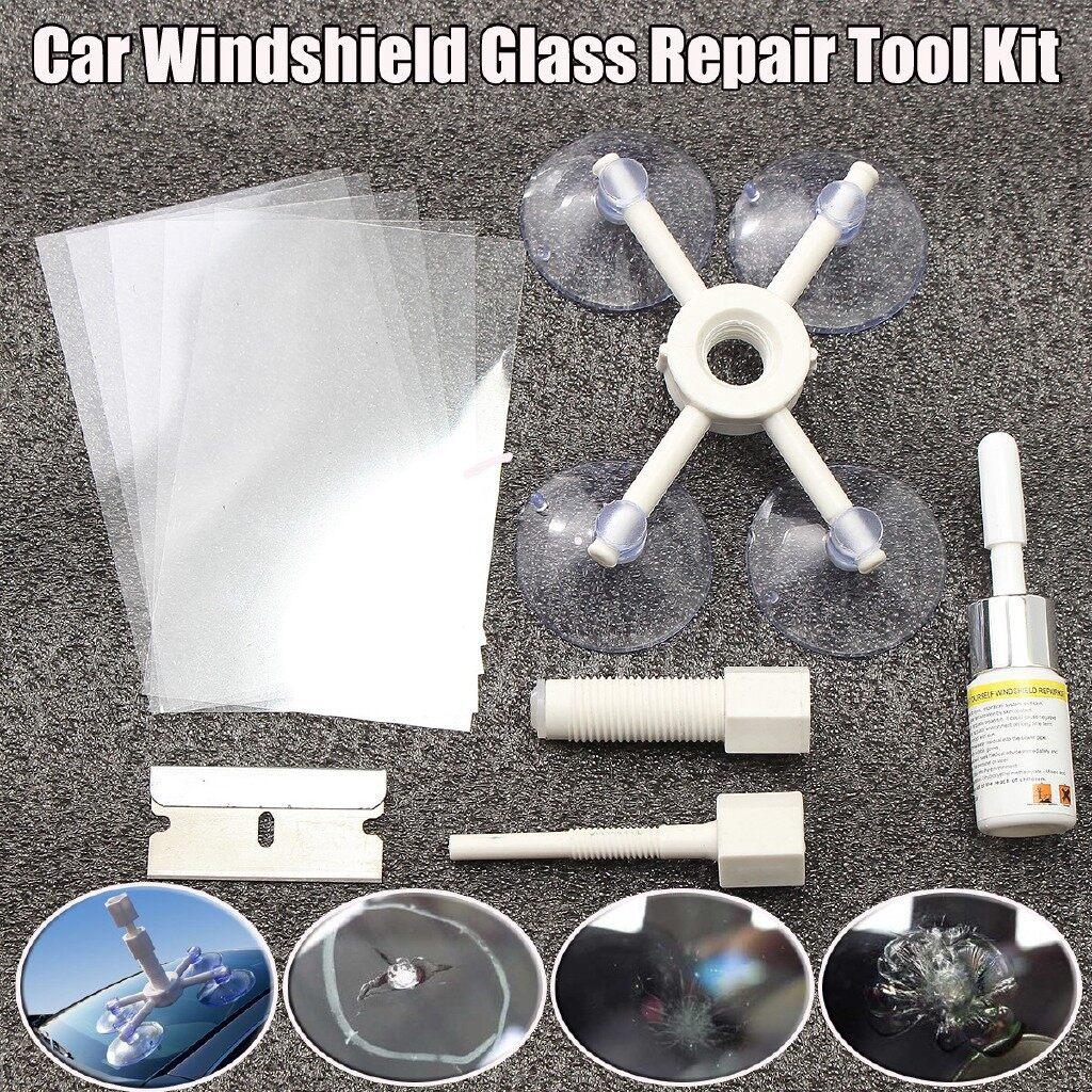 Exterior Car Care - Windshield Windscreen Repair Tool SET DIY Car Wind Glass Kit For Chip