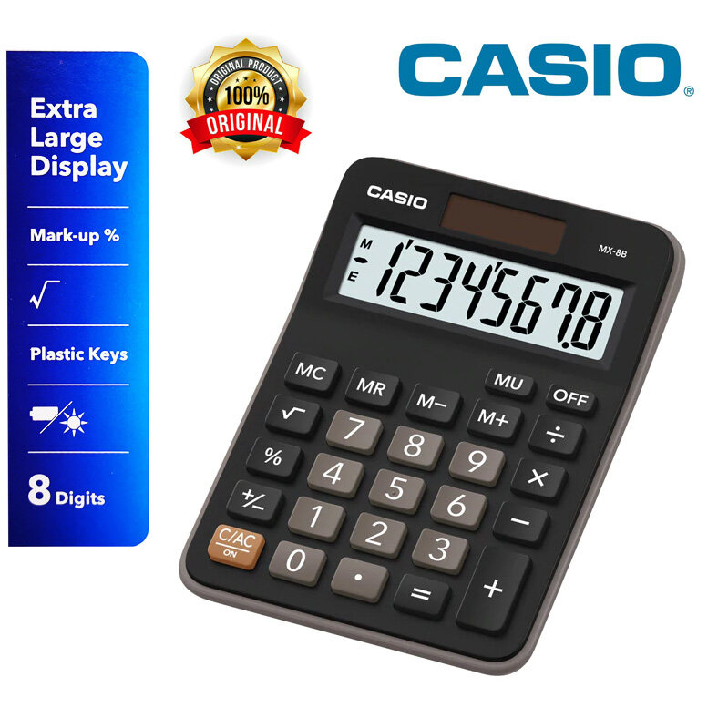 CASIO Calculator MX-8B 8 DIGIT