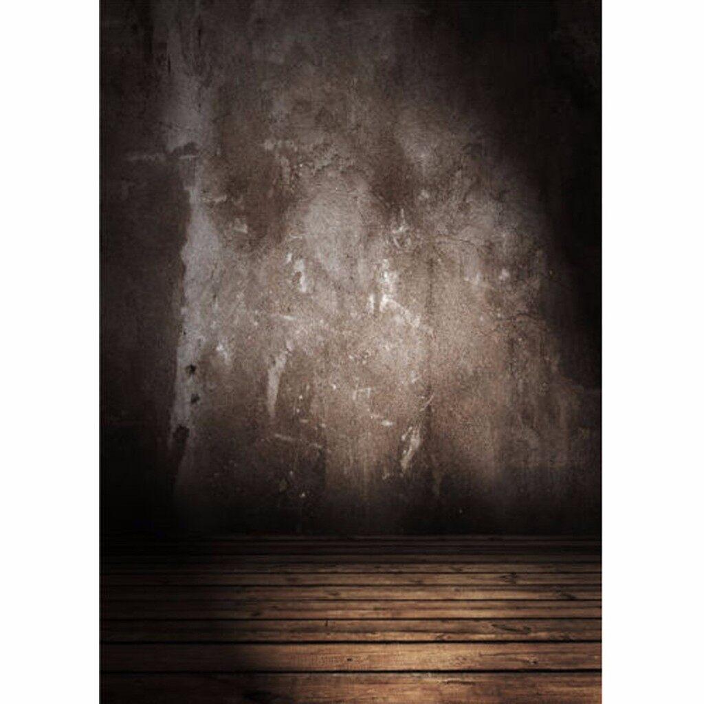 Lighting and Studio Equipment - 5x7F TVintage Vinyl Retro Gray Photography Background Wood Floor Backdrop Props - Camera Accessories