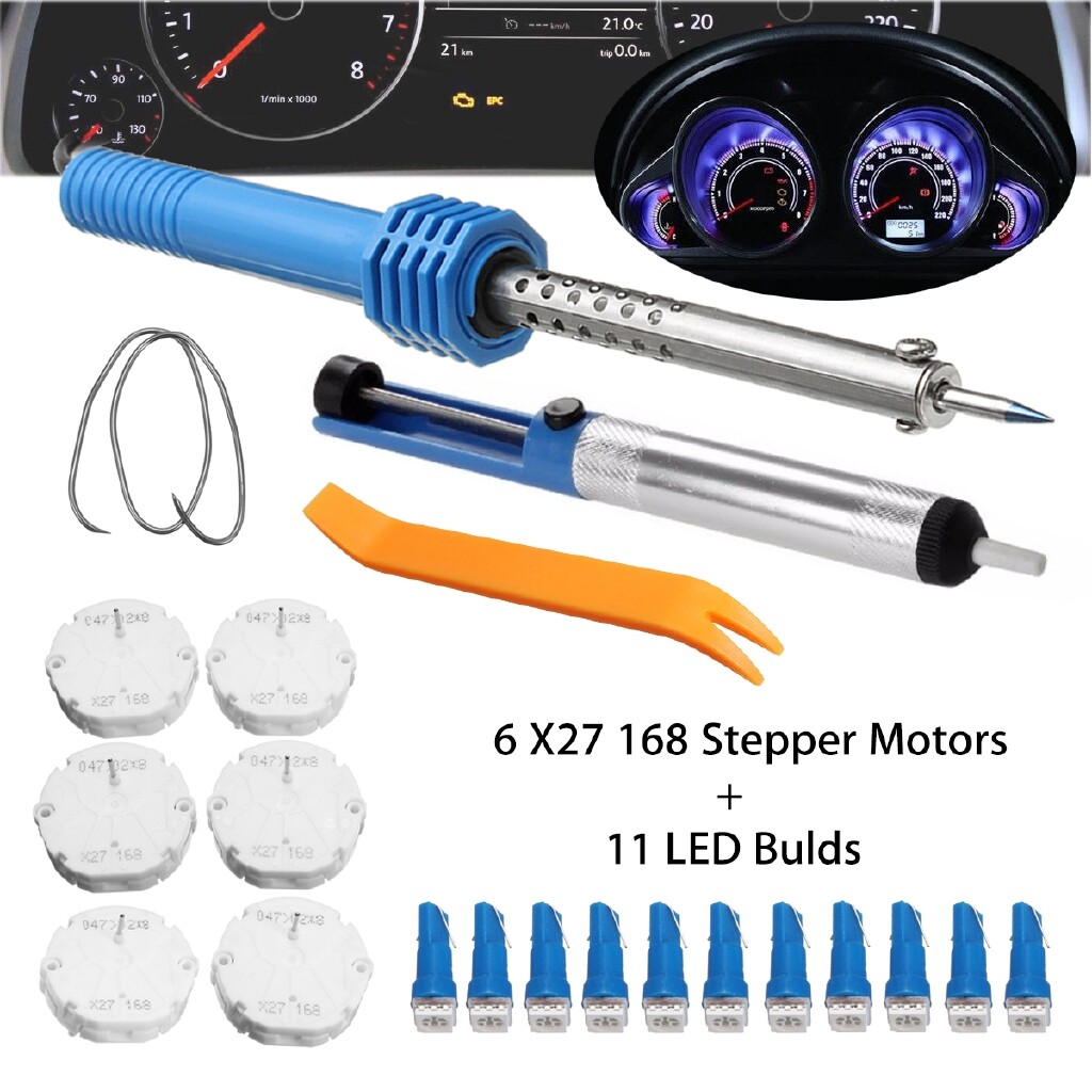 Car Lights - 6 PIECE(s) X27.168 Stepper Motors + 11 Piece LED Bulds Speedometer Cluster Repair Kit - Replacement Parts