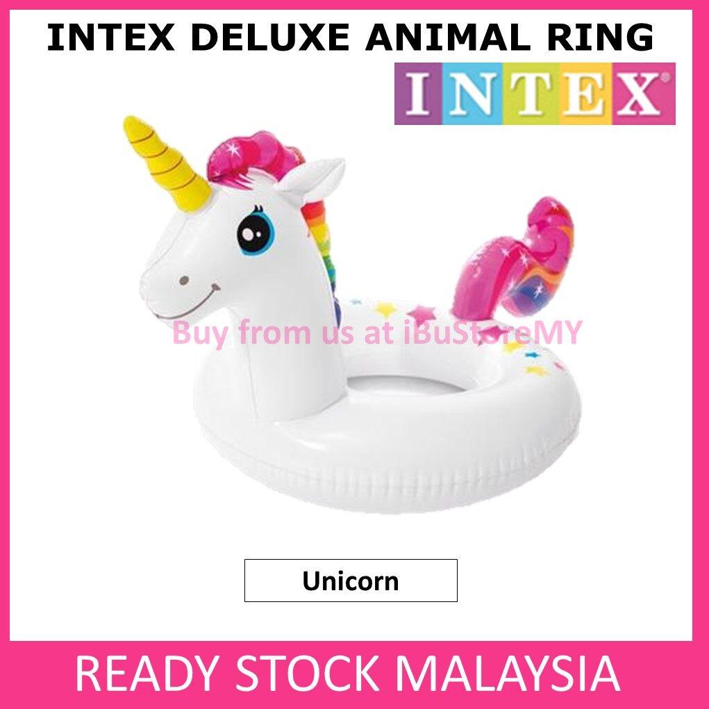 Intex Deluxe Animal Ring Intex Float Swimming Floaties Llama Crocodile Unicorn