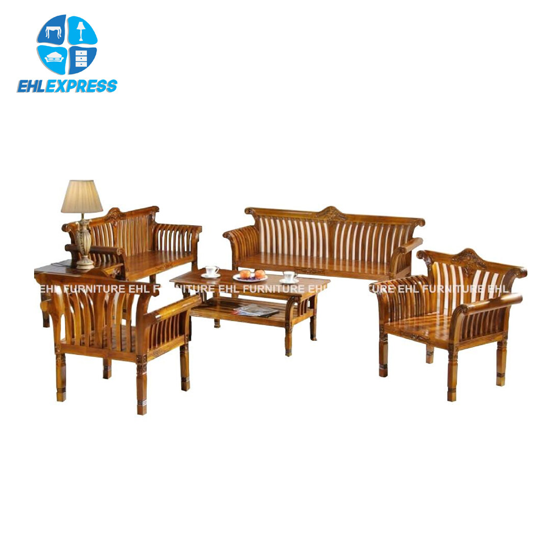 EHL EXPRESS JATI / TEAK WOOD WT16 Padi 1+1+2+3 seater FREE 2 coffee table - FREE INSTALLATION / DELIVERY TO PENINSULAR