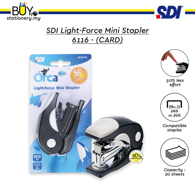 SDI Light-Force Mini Stapler 6116 - (CARD)