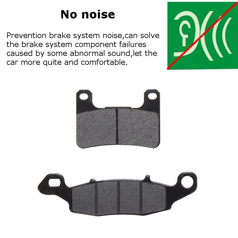 Brake Systems - Front + Rear Ceramic Brake Pads 2006-2009 Suzuki - Car Replacement Parts