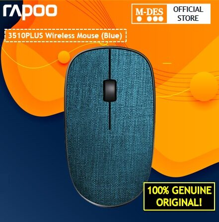 Rapoo 3510 Plus 2.4Ghz USB Wireless Optical Fabric Mouse (Blue)  Silent Mouse