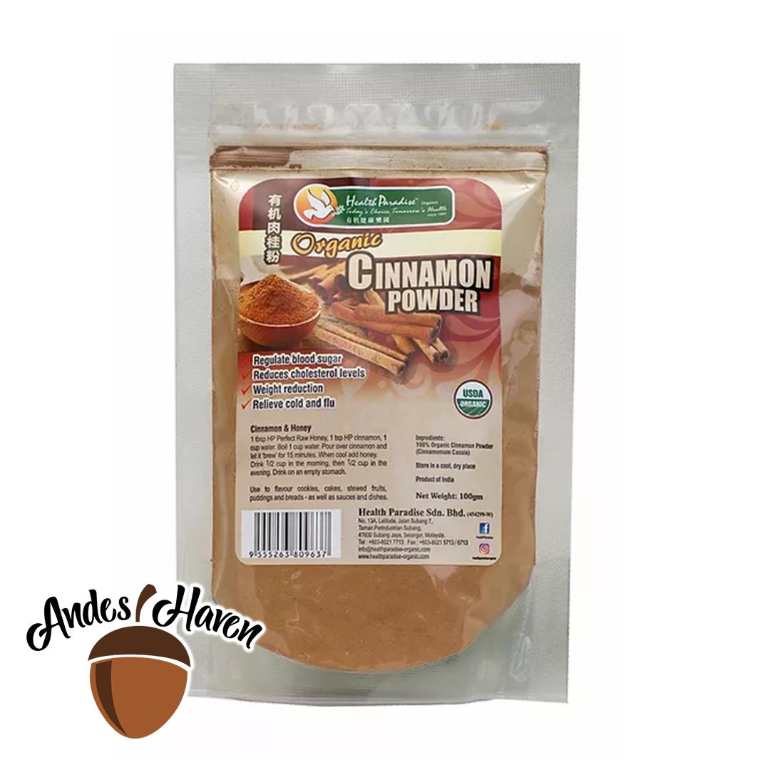 【Health Paradise】有机肉桂粉 Organic Cinnamon Powder - 100g