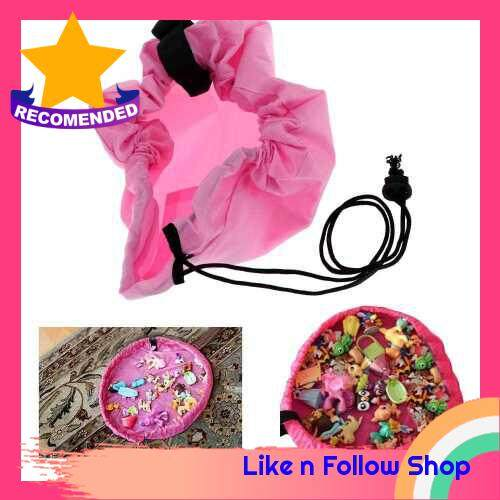 Toy Storage Bag Quick Buggy Bag Home / Picnic / Car Bag Holder (pink)