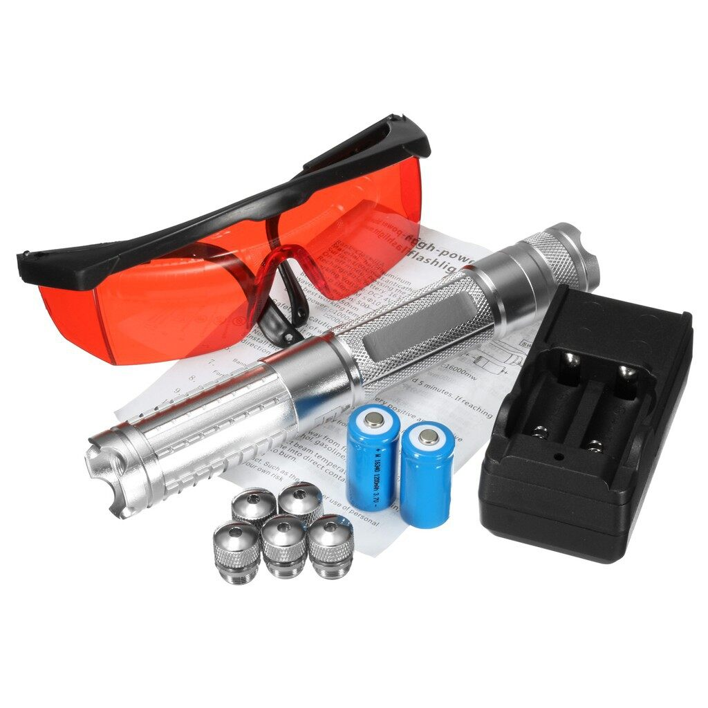DIY Tools - Blue Laser Pointer Kit Professional 532nm 1mw Light Pen Lazer Beam + Battery - Home Improvement